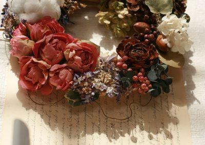 Flowers Lease Dried Flowers Wreath