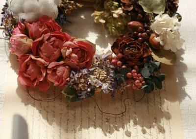 Flowers Lease Dried Flowers Wreath